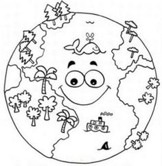 Top 20 Free Printable Earth Day Coloring Pages Online – Art World 20 Earth Day Coloring Pages, Space Coloring Pages, Coloring Pages To Print, Coloring Books, Earth Day Projects, Earth Day Crafts, School Projects, Teaching Packs, Teaching Kids