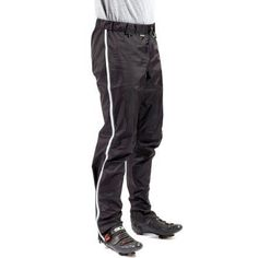 Don't let wet weather keep you off your bike. Transit Pants are made with a waterproof, breathable fabric and fit over casual pants, keeping you dry until you get to work. Available at REI, Satisfaction Guaranteed. Bike Pants, Rain Pants, Bicycle Maintenance, Cool Bike Accessories, Cycling Equipment, Men's Cycling, Cycling Jerseys, Cycling Shorts, Bike Seat