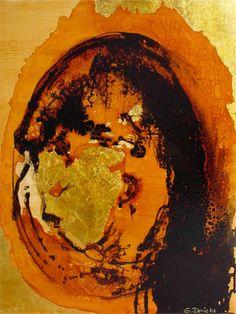 Geborgen . Acrylmischtechnik . Original . 100/80 Lw/mR . ©Gabriele Dericks . Rezension anschauen auf: http://www.dericks.info/index.php/de/rezensionen/rezension-geborgen