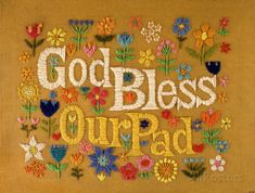 God Bless Our Pad Masterprint - 11x17 | Home & Garden, Home Décor, Posters & Prints | eBay!