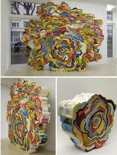 Phonebook Art.  Great way to recycle!