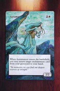 Auramancer / Origins *MTG Magic Altered Hand Painted Art Extended Rebecca Guay* | eBay
