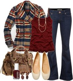 IN LOVE with this whole outfit, especially the plaid pea coat.