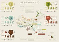 Mancha Tea Map / Infographic on Behance Information Design, Information Graphics, Infographic Examples, Map Infographics, China Map, China China, Behance, Brewing Tea, Tea Art