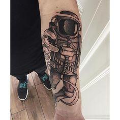 Astronaut Tattoo By Jakob Holst Rasmussen