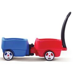 Step2 Choo Choo Wagon by Step2. $167.96. Recommended Age: 18 months - 3 years. 701700 Features: -Each car features comfortable seat and roomy foot well.-Suitable for 1.5 years and over. Includes: -Red and Blue Wagons included. Color/Finish: -Fun, colorful wagons perfect for multiple child transport. Assembly Instructions: -Assembly required.