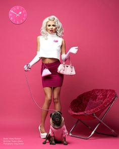 Barbie Girl Photoshoot  Real life Barbie  Model: Hayley Rudolph  Pug model, Pink inspo, Pink room, pink fashion, Barbie fashion