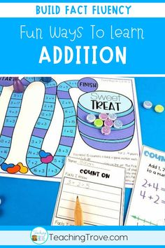 Addition games make learning addition strategies fun. Place in your math centers to help consolidate the mental math strategies you have been teaching to your first and second grade students. Great for math centers, partner work, morning work or extra activities for early finishers. #additionstrategies #additiongames