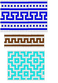 "Ленивый жаккард - варежки ""Северное солнышко"". Описание Tapestry Crochet Patterns, Loom Patterns, Mosaic Patterns, Stitch Patterns, Knitting Patterns, Crochet Diagram, Crochet Chart, Filet Crochet, Arm Knitting"