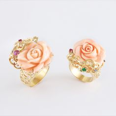 coral ring designs, coral ring designs for ladies, pink coral ring, flower coral ring, carved coral jewelry, pink coral jewelry, angel skin coral ring Coral Ring, Coral Jewelry, Diamond Earing, Ring Designs, 18k Gold, Jewelry Design, Carving, Angel, Stud Earrings
