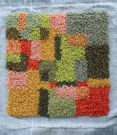 Rya Rug, Wool Rug, Latch Hook Rugs, Yarn Wall Hanging, Punch Needle, Rug Hooking, Floor Rugs, Textile Art, Embroidery