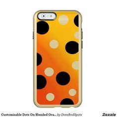 Customizable Dots On Blended OrangeToYellow Incipio Feather® Shine iPhone 6 Case