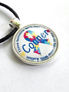 Autism awareness personalized name necklace 7 letters or less $17.25  listing at https://www.etsy.com/listing/233451375/autism-personalized-name-necklace-autism