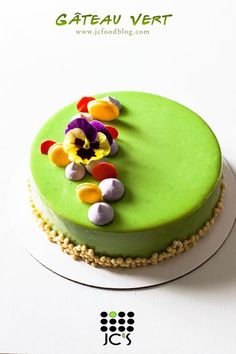The Green Cake! I love the bright gorgeous color of this cake. When I first found the green white chocolate glaze recipe, I was skeptical about it. This cake consist of 5 components: green white chocolate glaze, dark chocolate mousse, strawberry confit, pistachio mousse, and last, joconde. To counterbalance the dark rich chocolate flavor and the sweetness of the pistachio, I added a layer of...