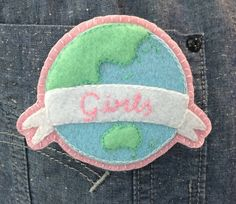 Who run the world? Girls!  Who run this motha? Girls!  Who run the world? Girls!   This handmade felt patch is part of the #makeforgood