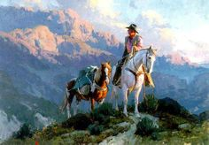 Bill Anton one of my favorite artists.  Mountains.  Horses.