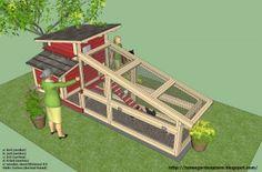 Kippenhok bouwtekening                                      Bron: homegardendesignplan.com