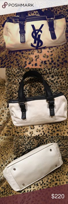 YSL canvas Handbag Pre owned in good condition. Yves Saint Laurent Bags