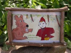 Little red riding hood fairy tale picture frame.