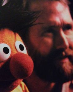 Jim Henson and Ernie Jim Henson, Big Blue House, Custom Puppets, Bert & Ernie, Tumblr, Sunny Days, Street, Bear, Face