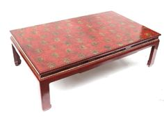 Asian-Style Low Cocktail Table : Lot 490