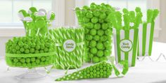 Kiwi Green Candy Buffet - Green Candy Table Ideas - Party City