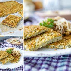 Fitness bramborák na plech s mletým masem a kysaným zelím - zdravý recept - Bajola Food And Drink, Low Carb, Bread, Fitness, Brot, Baking, Breads, Buns