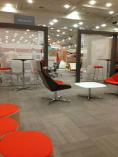 Nios Lounge series, set-up at space #2409. Drop by for a closer look! #NeoConEast