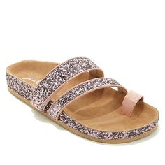 "Joan Boyce ""Mary"" Glitter Comfort Sandal"