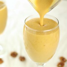 Satisfy your thirst for pumpkin pie with this nutritious smoothie.