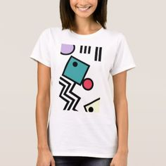 Abstract 80s memphis pop art style graphics T-Shirt - retro clothing outfits vintage style custom