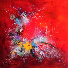 Acryl on canvas 140 x 140 cm Red Dog, Paintings For Sale, To My Daughter, Canvas, Summer, Tela, Summer Time, Canvases