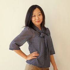 Queen of Darts: Lottie blouse. Link goes to a sew-along. (The pattern is a free download I've already pinned/downloaded.)