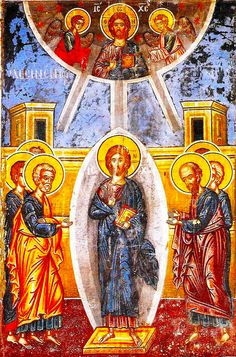 """link to very informative & interesting article - """"The meaning of objects held by Saints in Icons"""" - http://iconreader.wordpress.com/2011/05/15/what-do-the-objects-held-by-saints-in-icons-mean/"""
