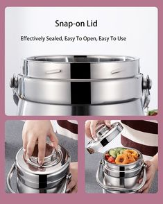 Food container thermos made of stainless steel 1.4L-3L Lunch Box Containers, Eco Friendly, Kitchen Appliances, Stainless Steel, Dark, Decor, Diy Kitchen Appliances, Home Appliances, Decoration