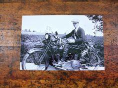 Vintage Motorcycle Photo Framed, Harley Davidson Photo, 1920s, Milwaukee, Wisconsin