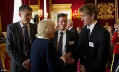 Camilla the Duchess of Cornwall was also at the event and is seen here talking to Canadian...
