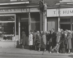 Chris Killip, 'People queuing outside of bakery during flour shortage ('the bread strike')' 1977, printed 2010
