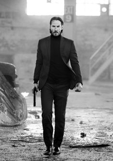 Hard day;  Keanu Reeves as John Wick