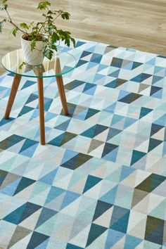 Cool Alpine: 1.5 X 2.3 metres. Printed nylon. Please note that, as these printed rugs are mad...