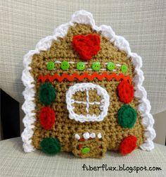 Free Crochet Pattern...Gingerbread House Throw Pillow! FREE PATTERN 5/14.