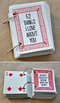 Mother's Day Gift Out Of Playing Cards - 101 Mothers Day Gifts and Craft Ideas to DIY This Weekend - DIY & Crafts