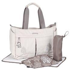 NEW Okiedog Dahoma Shuttle Baby Diaper Bag Oyster Tan  & Gray  FREE S&H  *  NEW #OkieDog