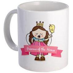 Princess of the House Mugs> Birdie Mugs> Birdie Says Cool Mugs, Thrifting, Princess, Sayings, Nice, Tableware, Bricolage, Hay, Dinnerware