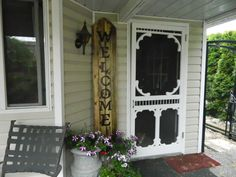 welcome sign for front porch