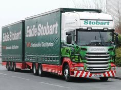 Eddie Stobart Trucks, Cars And Motorcycles, Race Cars, Transportation, American, Classic, Custom Trucks, Drag Race Cars, Derby
