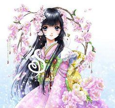 Being a manga artist takes many years of practice! Anime Kimono, Manga Anime, Anime Fairy, Samurai, Coloring Book Art, Chibi Characters, Manga Artist, Beautiful Anime Girl, Cute Chibi