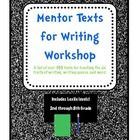 A list of over 900 fiction and nonfiction mentor texts which can be used to teach writing skills throughout the year.  Includes texts to teach the 6 traits of writing, writing genres, & writing mini-lessons.  $