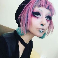 - make up modelle Makeup Inspo, Makeup Art, Makeup Inspiration, Makeup Tips, Eye Makeup, Hair Makeup, Harajuku Makeup, Pastel Goth Makeup, Kawaii Makeup