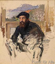 Claude Monet - Self Portrait in his Atelier